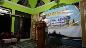 Prof. KH. Imam Taufiq ketika sambutan Pembukaan Pascalib 2020 di Mushola Roudhotul Jannah